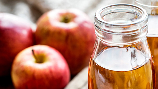 Apples and a glass of cider