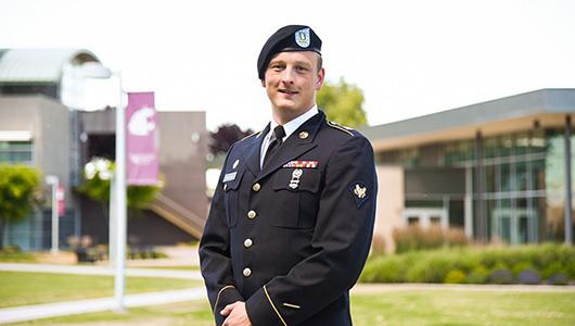Peter Nolan in uniform.