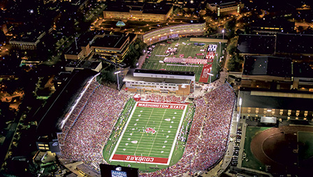 Aerial photo of Martin Stadium.