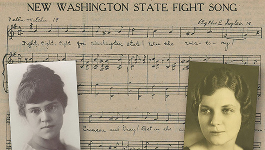 WSU Fight Song music and photos of original composers