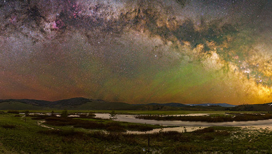 Night sky outside Stanley, Idaho (via WS Magazine)