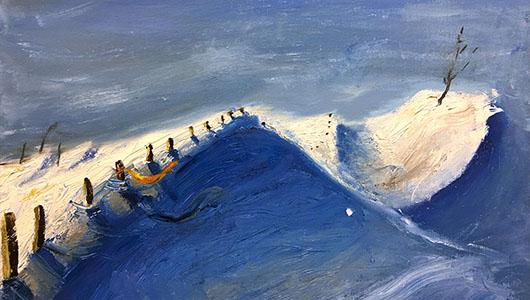 A landscape oil painting.