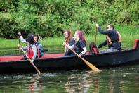 Canoe riders.