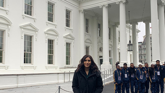 Savanna Navarro Kresse at the White House in Washington, D.C.