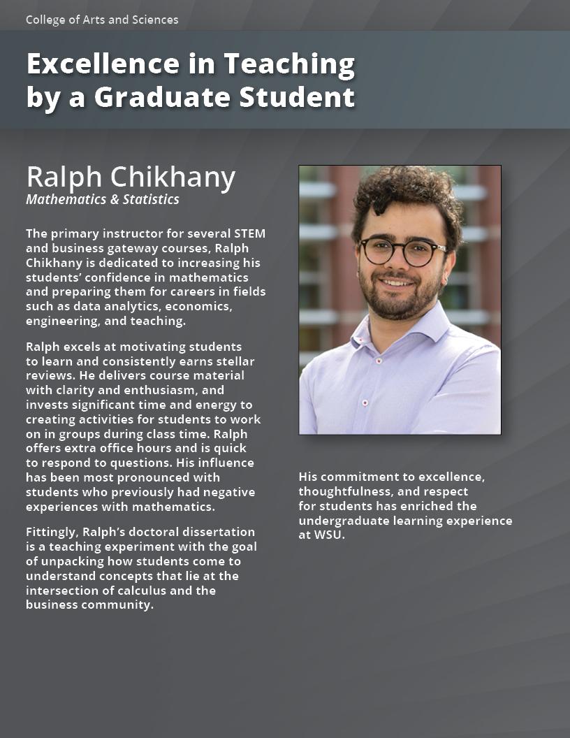 Department Of Mathematic And Statistic At Washington State University Undergraduate Dissertation