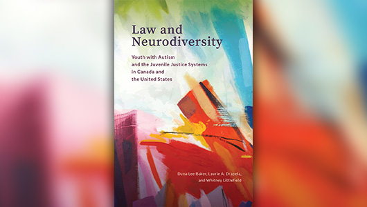 Book cover: Law and Neurodiversity.