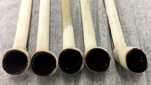 Ancient smoking pipes.