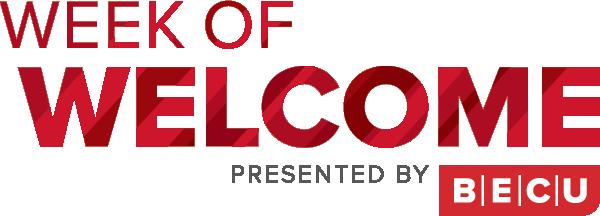 Week of Welcome. Presented by BECU.