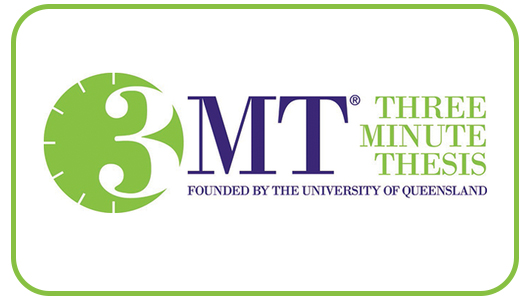3MT - Three Minute Thesis, Founded by the University of Queensland.