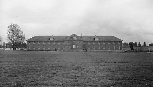 Historic photo of a schoolhouse.