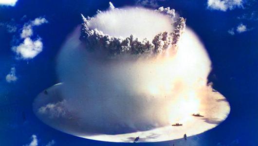 Nuclear bomb blast.