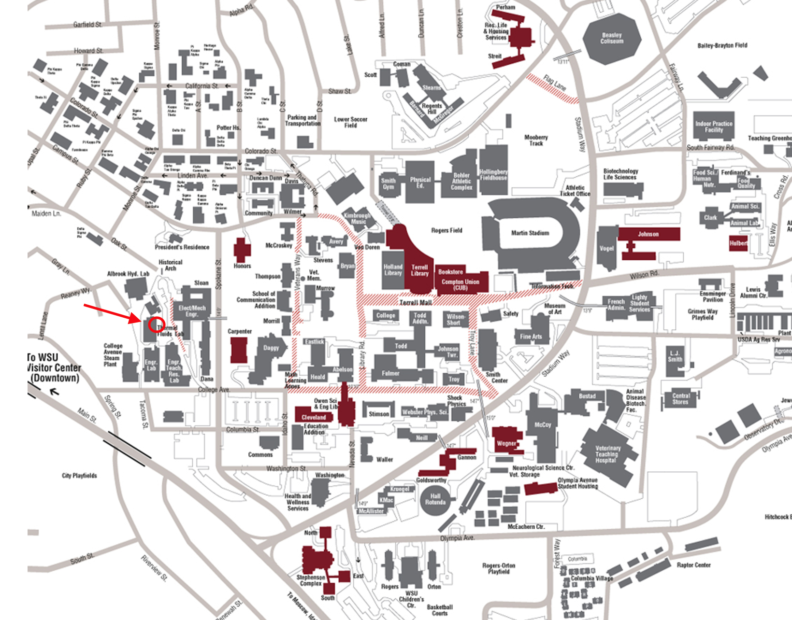 Washington State University Campus Map Find Us | Innovation for Sustainable Energy | Washington State