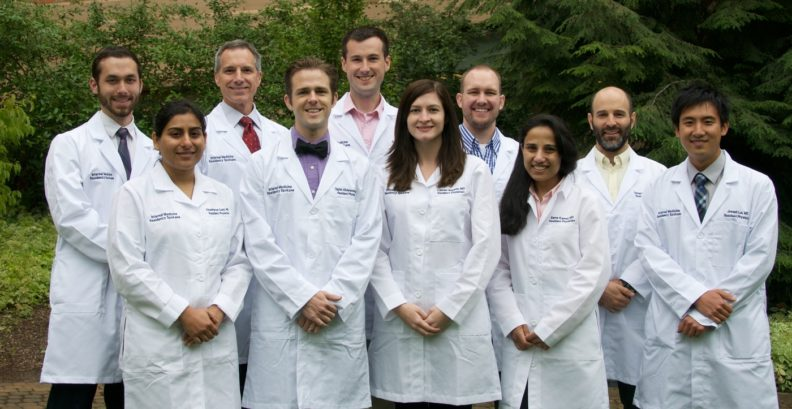This is a group shot of the 2016-17 Spokane Internal Medicine Residency class.
