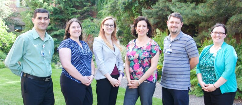This is a photo of all six Spokane Psychiatry residents for 2016-17.