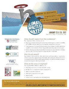 Climate Impacts to Water 2017 PNW conference brief ad