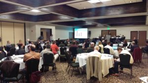 Panel discussion during the Agriculture in a Changing Climate workshop. Photo by Brooke Saari