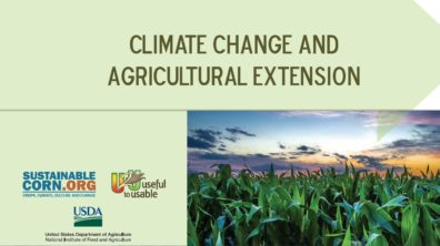 Image from Sustainable Corn project that outlines recommendations for agricultural extension and climate change outreach to farmers.