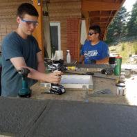 Noah and Rigo making more mold boxes