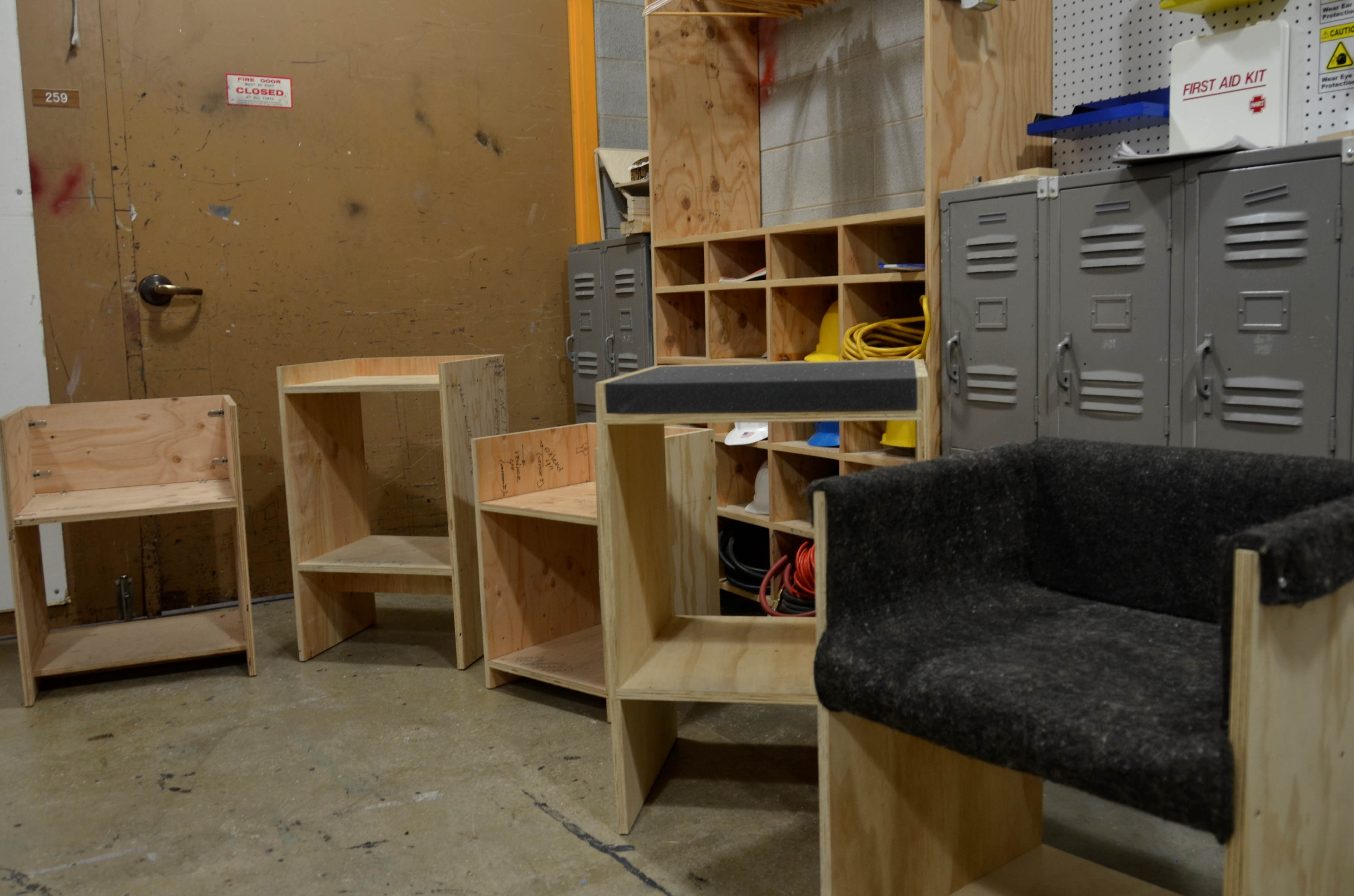 To scale model of our chairs.