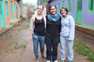 Katherine Flores (center) in Ethiopia summer 2015