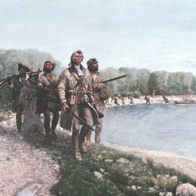 Painting of Lewis & Clark Expedition members