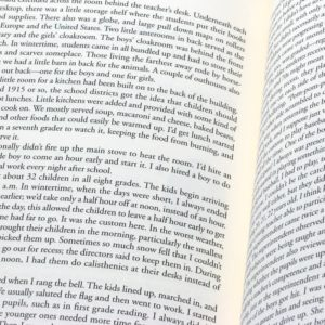 Closeup of text in open book
