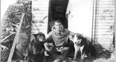 Ernest Leffingwell with sled dogs