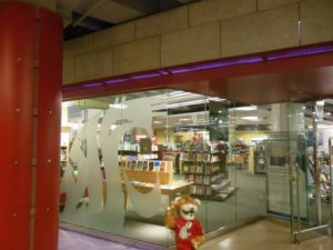The Bookie entrance from the CUB hallway on the WSU Pullman campus