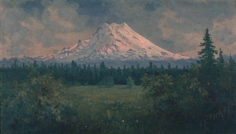 Oil painting of Mt. Rainier by artist James Tilton Pickett