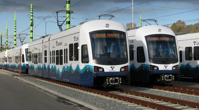 Photo of Sound Transit light rail trains