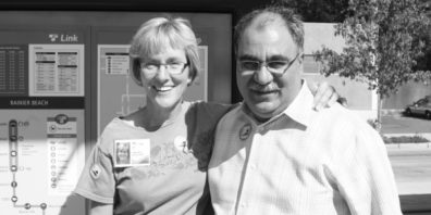 Photo of Joni Earl and Ahmad Fazel