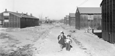 Photograph of two small Japanese children