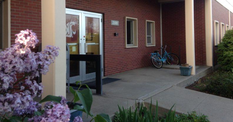 Front door of WSU's Cooper Publicatons Building
