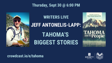 Everett Library graphic for 9/30/2021 event with Jeff Antonelis-Lapp