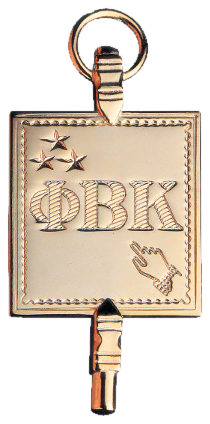 Phi Beta Kappa membership lapel pin.