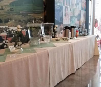 Refreshment table.