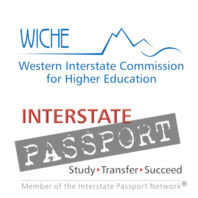 Official logos of the Western Interstate Commission for Higher Education (WICHE) and its Interstate Passport program.
