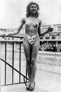 Most people have forgotten that the bikini was named after the site of the first postwar atomic test. Its designer, Louis Réard, thought the bottom-baring daring new swimsuit would have an impact comparable to the bomb.
