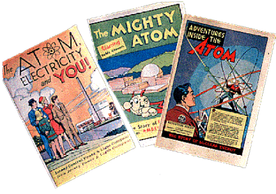 Even more effort was put into getting the public to feel comfortable with atomic power. Pro-nuclear comics such as these continued to appear throughout the fifties and later, and were often distributed free to children in public schools.