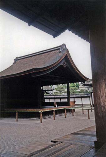 KYOTO: One of two Noh theatre stages on the grounds of the Nishi Hongan-ji in Kyoto. May 24, 1998