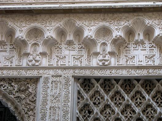 SEVILLA: Detail of the plaster decoraton.