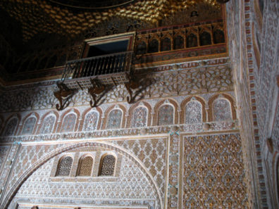 SEVILLA: From this exalted balcony the king received his visitors and handed down his judgments.