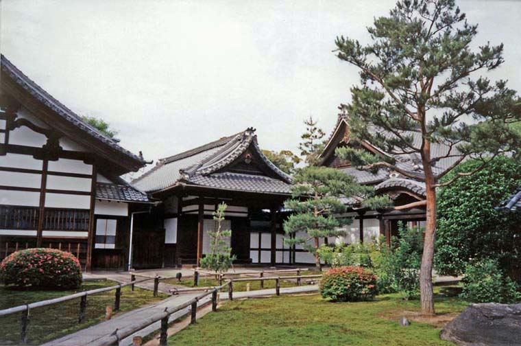 KYOTO: Another view of the Kodai-ji Temple grounds, with the gardens designed by Kobori Enshu. It has only been open to the public for a few years, and lacked the throngs we had been experiencing earlier. May 19, 1998