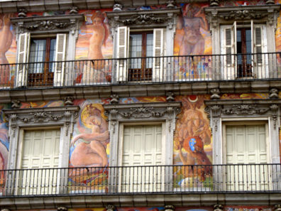 MADRID: These lively paintings were added to the facade of this famous palace on the Plaza Mayor in 1993. It is from these apartments that the royal family has traditionally watched all sorts of public entertainments and pageantry.