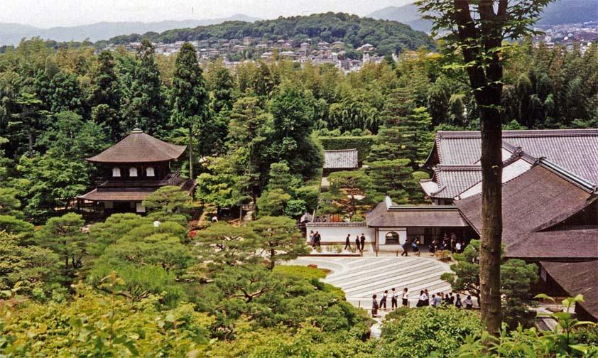 """KYOTO: May 26: For our last day, we decided to take the """"Philosopher's Walk,"""" starting at the Ginkakuji Temple. It is called the """"Silver Pavilion"""" although the original plan to coat it in silver as the Kinkakuji was coated in gold was never carried out."""