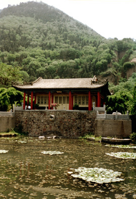HUAQING TEMPLE: The springs have mostly dried up, but here is one pond with water lilies.