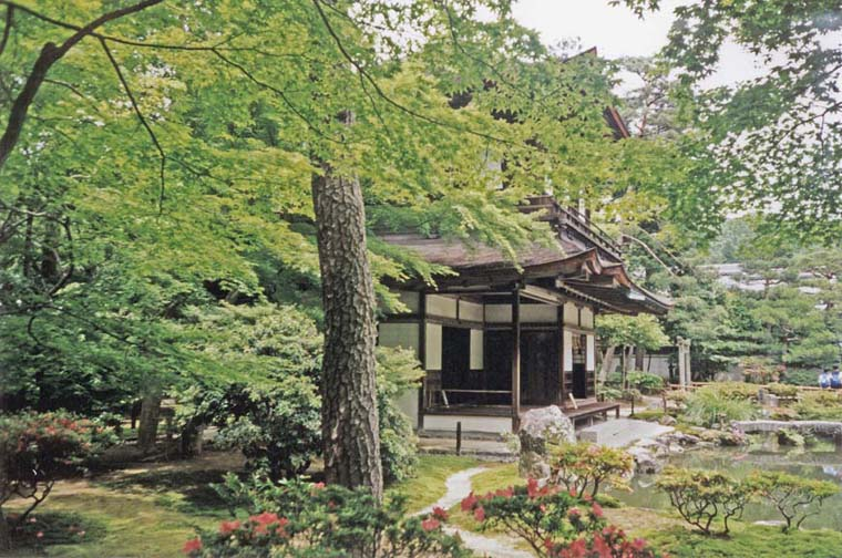 """KYOTO: Side view of the facade of the """"Silver Temple."""" May 26, 1998"""