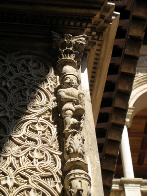 SEVILLA: Another human figure. Combines Moorish, Gothic, and Classical influences.