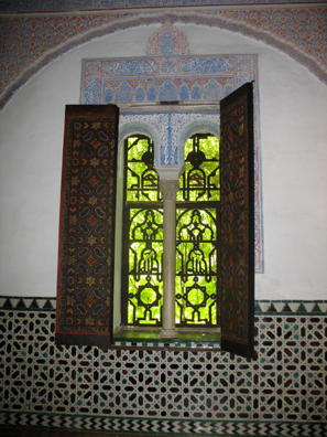 DEVILLA: Pierced windows in the women's quarters look out onto the elaborate gardens behind the palace.