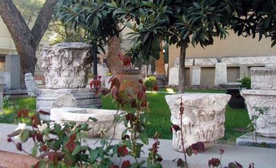 BERGMA MUSEUM: This collection of beautiful Classical capitals is arrayed in the courtyard in front of the museum.